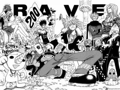 Rave l'équipe des héros prend la pose pour le 200ème chapitre