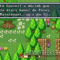 Secret of Mana le conseil a banni le héros du village de Potos