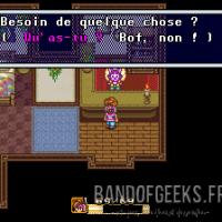 Secret of Mana le héros discute avec un marchand