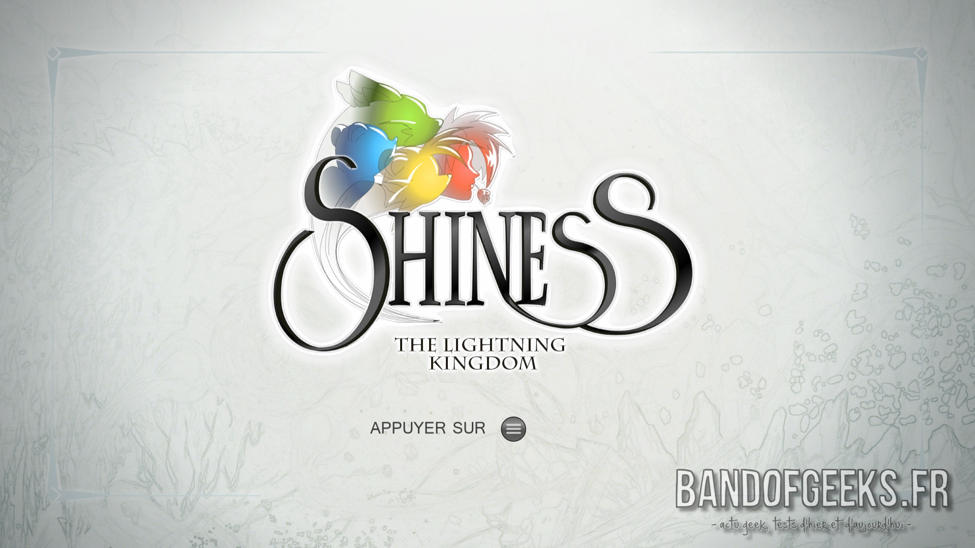 Shiness - The Lightning Kingdom écran titre Xbox One