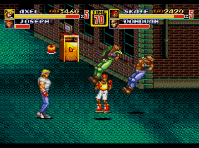 Streets of Rage II Axel et Skate tabassent des loubards