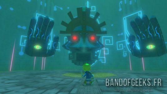 Wind Waker HD Boss de la Tour des Dieux face à Link