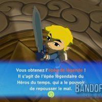 Wind Waker HD Link obtient l'épée de légende