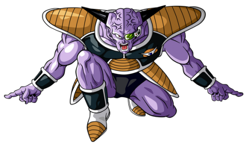 Capitaine Ginyu de Dragon Ball prend la pose