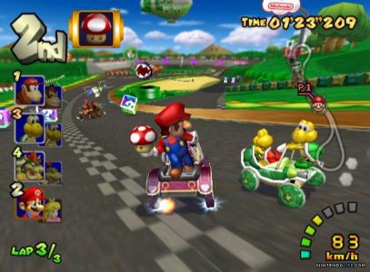 Mario Kart Double Dash!! Mario a un champignon et est 2ème