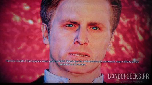 Mass Effect 2 l'Homme Trouble en gros plan