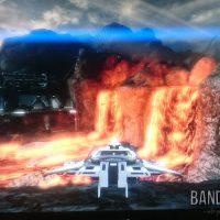 Mass Effect 2 vaisseau sur une planète entourée de lave