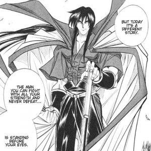 Kenshin le Vagabond Seijuro Hiko prend la pose