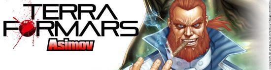 Terra Formars Asimov logo et personnage principal