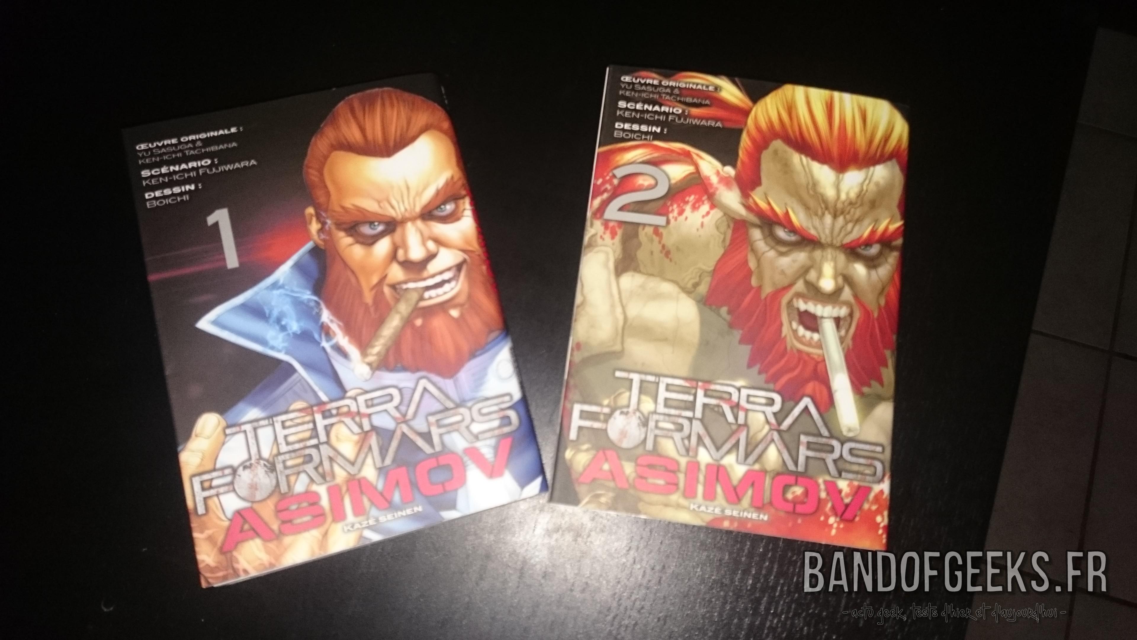 Terra Formars Asimov tomes 1 et 2