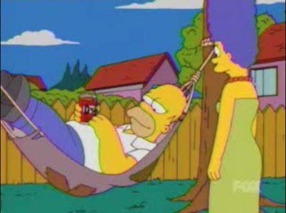 Homer SImpsons Hamac Band of Geeks