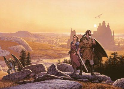 L'épée de Vérité Richard et Kahlan prennent la pose