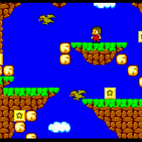 Alex Kidd in miracle World début du jeu