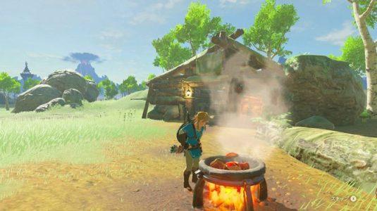 Breath of the Wild Link cuisine plusieurs ingrédients