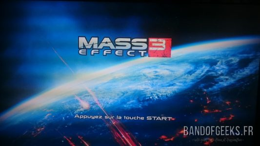 Mass Effect 3 écran titre version PS3