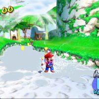 Super Mario Sunshine Mario dans une rivière