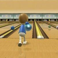 Wii Sports bowling le Mii va lancer sa boule