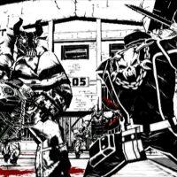 Wii Madworld deux personnages vont s'affronter à la tronçonneuse