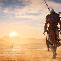 Assassin's Creed Origins Bayek se balade dans le désert