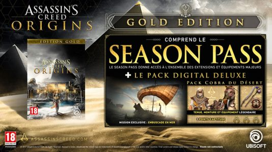 Assassin's Creed Origins édition collector et son contenu