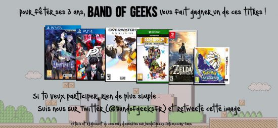 Concours 3 ans Band of Geeks