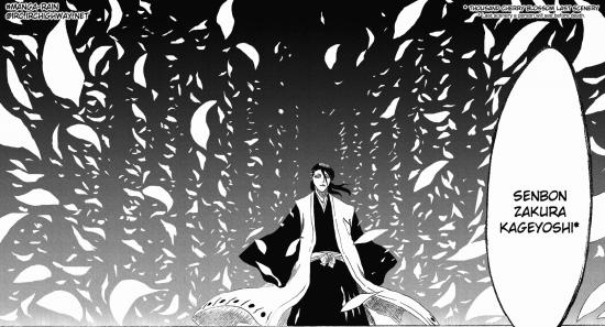 Bleach Byakuya déclenche son Bankai