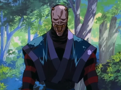Kenshin le vagabond Hannya prend la pose