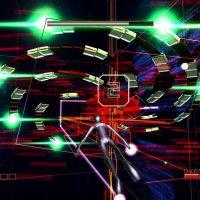 Rez sur dreamcast le héros attaque des formes et des couleurs