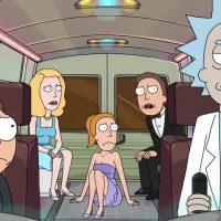Rick et Morty la famille dans un vaisseau spatial