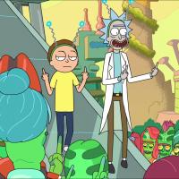 Rick et Morty Rick et Morty font des doigts d'honneur à des Aliens