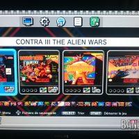 Super Nes Mini écran de sélection du jeu