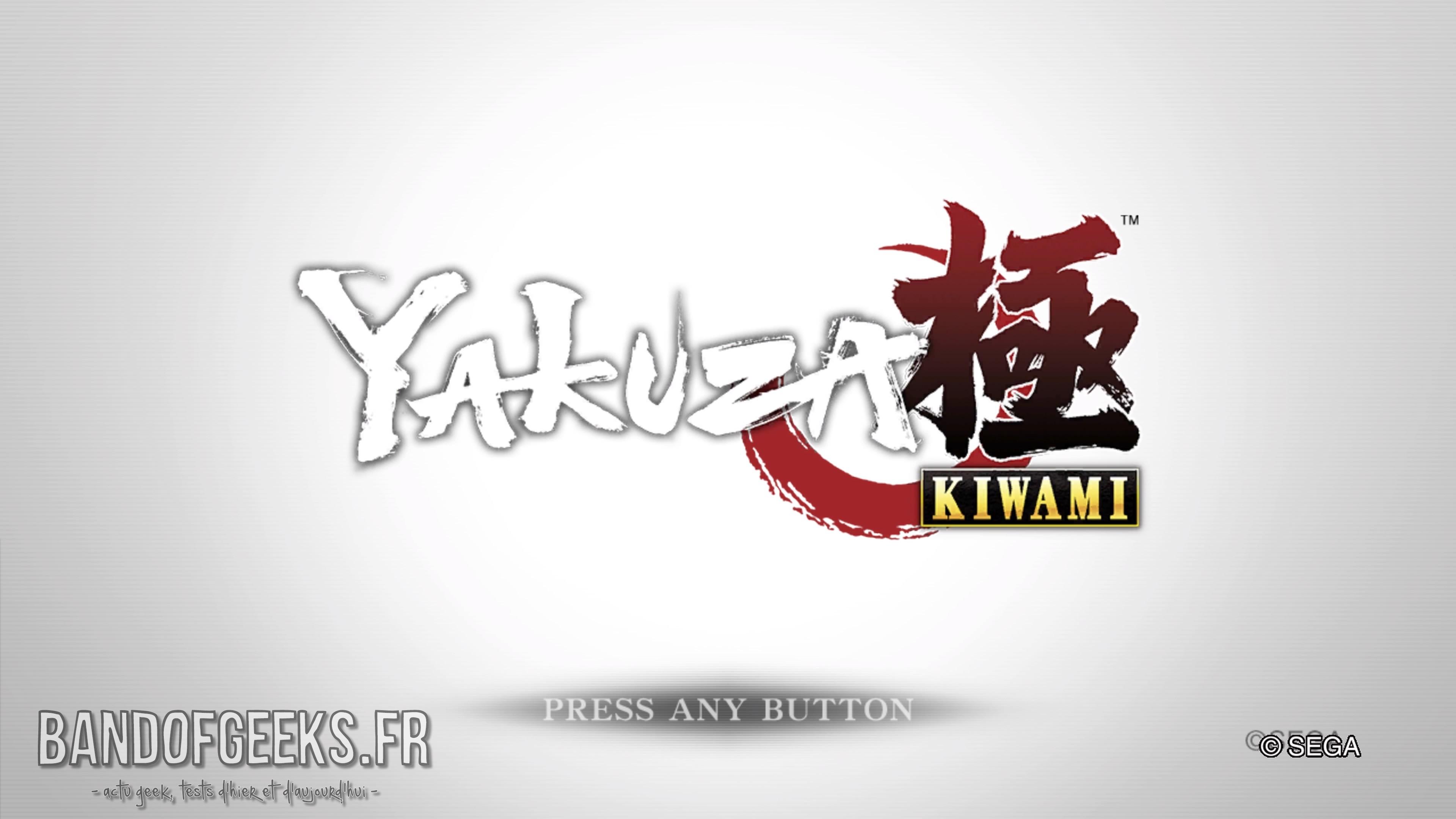 Yakuza Kiwami écran titre