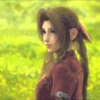 Final Fantasy VII Aerith prend la pose