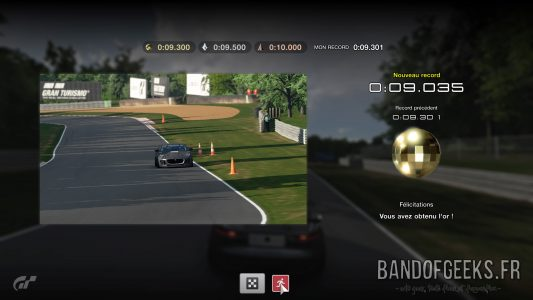 GT Sport épreuve réussie en or