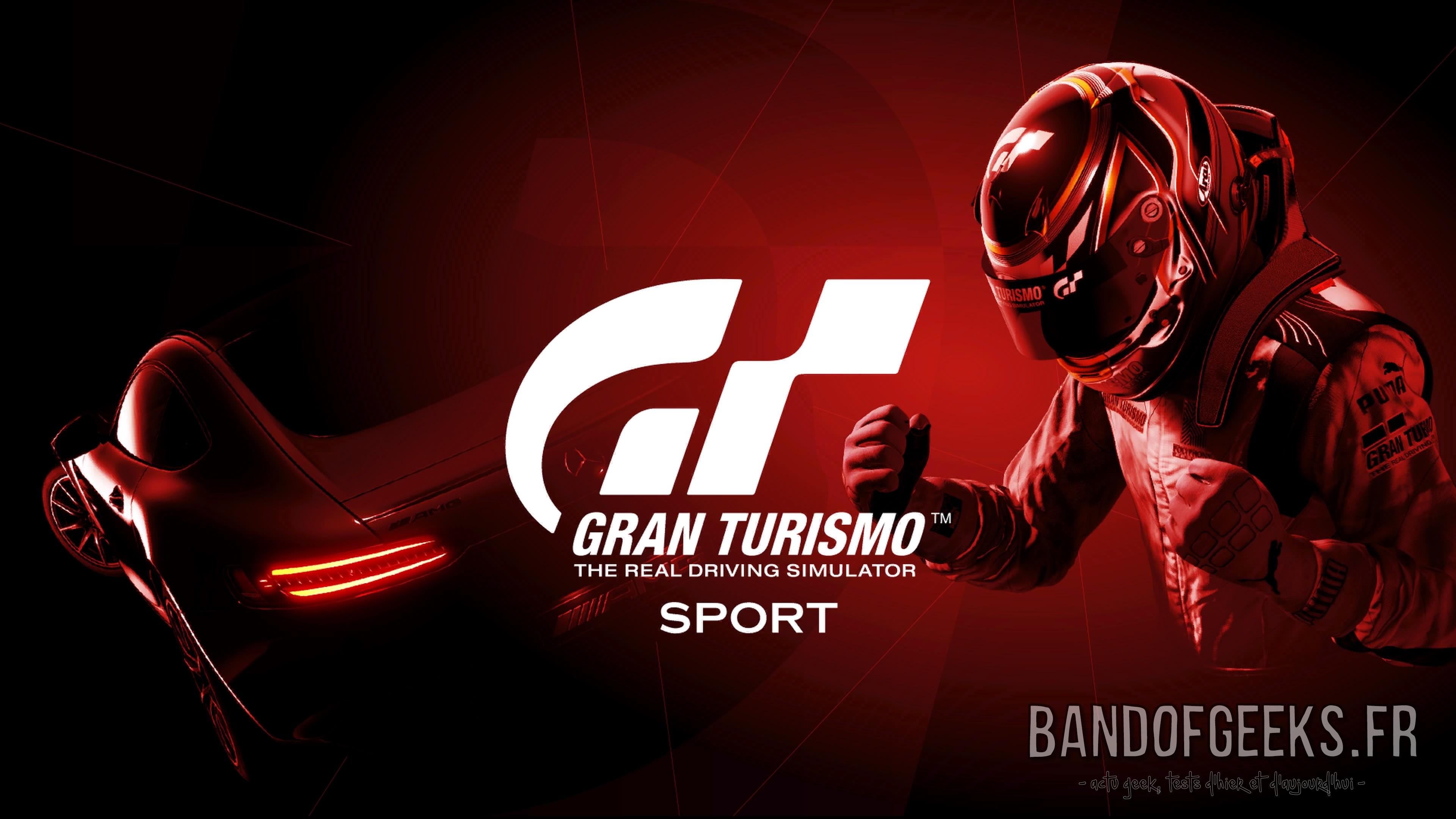 GT Sport écran titre