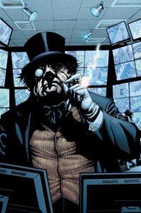 Batman le Pingouin fume un cigarillo