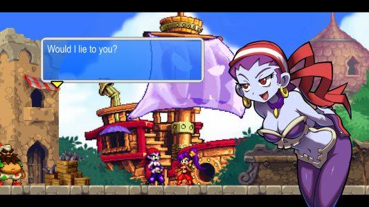 Shantae and the pirate's curse Booty Risk discute avec Shantae