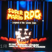 Super Nintendo Mini Super Mario RPG écran titre
