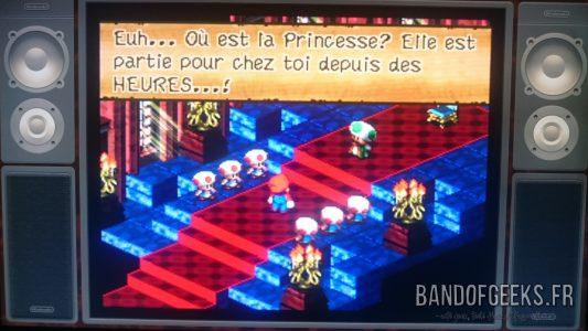 Super Mario RPG le roi discute avec Mario