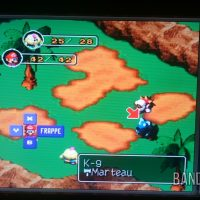 Super Mario RPG Mario combat contre deux ennemis