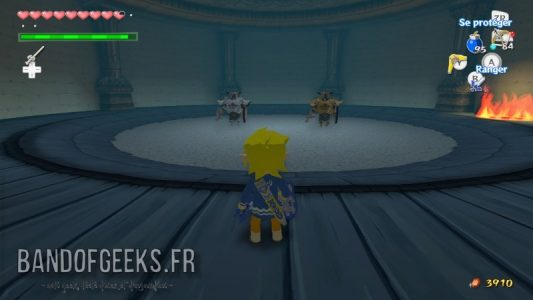 Wind Waker HD Link face à deux chevaliers