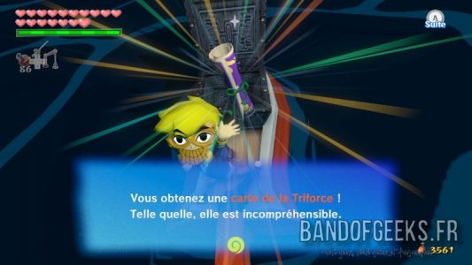 Wind Waker HD Link a trouvé une carte de la Triforce