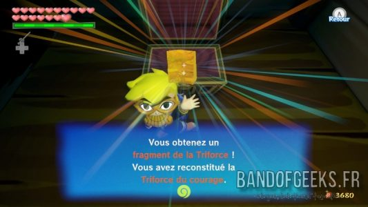 Wind Waker HD Link trouve un fragment de Triforce