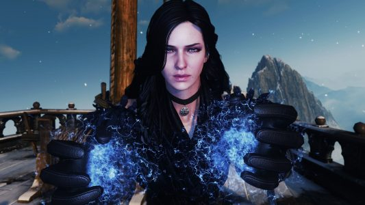 The Witcher 3 Yennefer utilise la magie