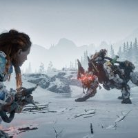 Horizon Zero Dawn The Frozen Wilds Aloy combat lance Band of Geeks