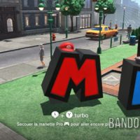 Super Mario Odyssey Mario transformé en lettre M