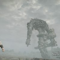 Shadow of the Colossus Wander s'approche d'un colosse
