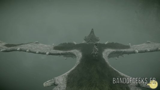 Shadow of the Colossus Wander sur le colosse volant