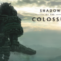 Shadow of the Colossus colosse et logo du jeu