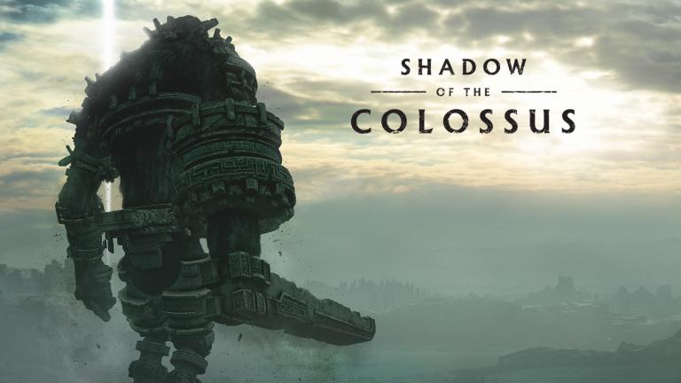 Shadow of the Colossus colosse et logo du jeu